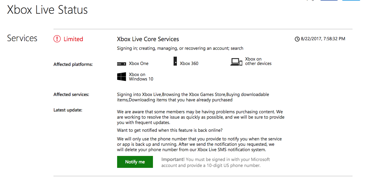 Xbox Live - Service Alert - Tech Geek and More