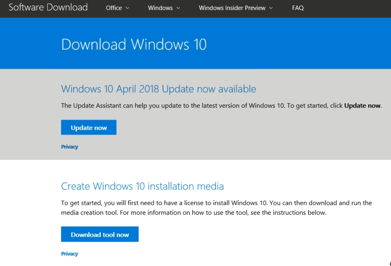 windows 10 download media creation