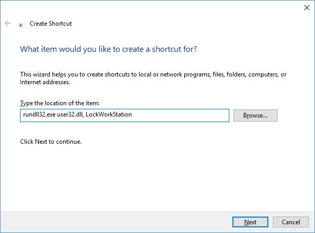 create shortcut 2