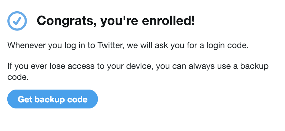 Twitter 2FA confirm