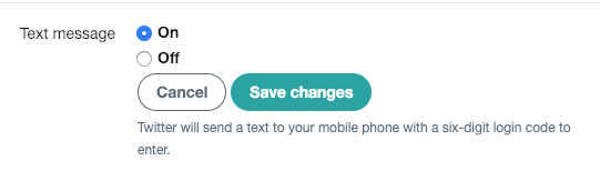 Twitter Text Turn Off