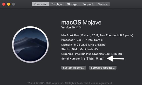About This Mac Info