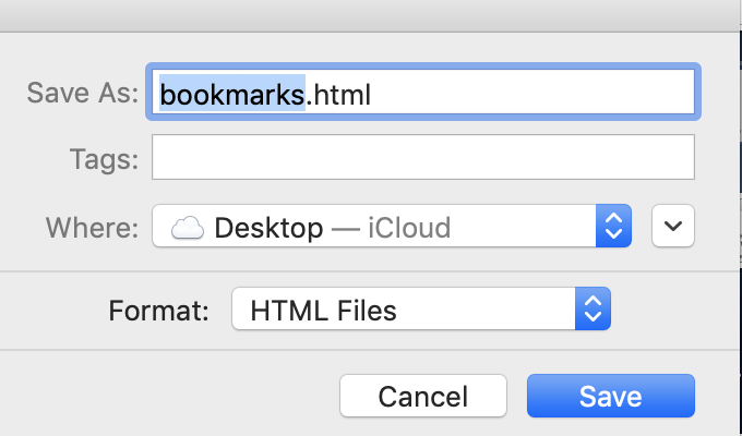 bookmark save